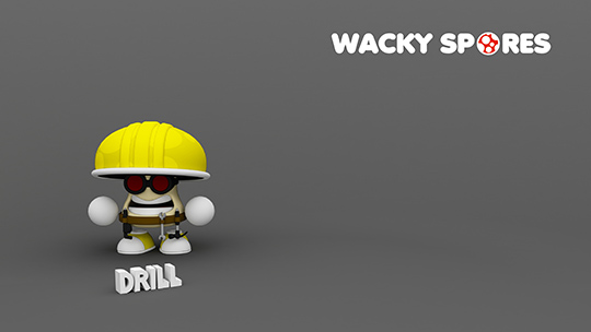 Wacky Spores Drill wallpaper